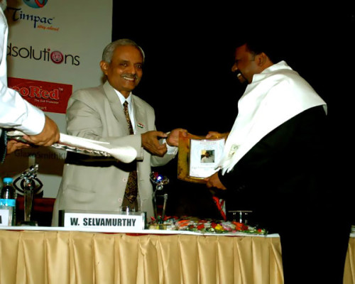 Honour From Dr W Selva Moorthy DS CC DRDO